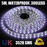 5m Flexible Bright LED Strip Lights IP65 Waterproof 300 LEDs 12V + Controller