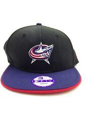 $75 New Era Youth Black Columbus Blue Jacket Nhl Baseball Cap Snapback Hat New