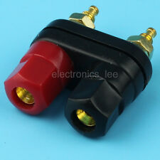 Audio Amplifier Stud Terminal Speaker Banana Socket Binding Post 2-way Plug