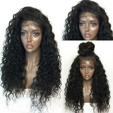 Fluffy Long Deep Curly Lace Frontal Synthetic Hair Wigs For Fashion Women NEW CL