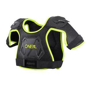 O'Neal Peewee Neon Gelb Brust Panzer Protektor 4-9 Jahre Kinder Motocross MX MTB