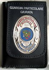 Portafoglio Portadocumenti con Placca Guardia Particolare Giurata I.P.S.