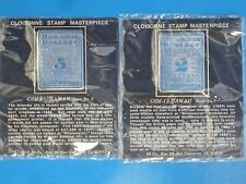 Hawaiian Silver Cloisonn'e Stamp Set 5¢ & 2¢ CSM-65 & CSM-12