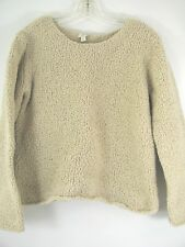 J. Jill women sweater Size S beige Nubby Chunky Textured long sleeve Round Neck