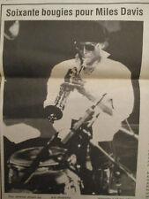 60 BOUGIES DE MILES DAVIS + LOUIS CHEDID + JOHNNY HALLYDAY + GUITAR - 28/05/1986