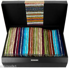 MISSONI HOME SET ASCIUGAMANII NATHAN 170 3D CHEVRON  HAND+ BATH TOWEL SET