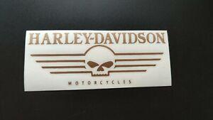 Harley Davidson Motorcycles Aufkleber Sticker Kupfer bronce matt Gold