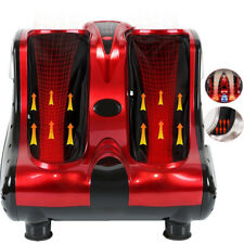 Foot Shiatsu Kneading Rolling Vibration Heating Calf Ankle Leg Massager Red