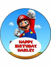 "Super Mario 7.5"" Rice Paper Birthday Cake Topper SM1"