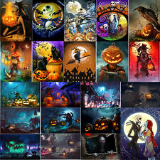 Halloween 5D Full Drill Round Diamond Painting DIY Embroidery Kits Home Decors