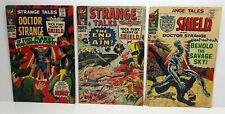 STRANGE TALES #149, 160, 165 *LOT OF 3* SILVER AGE NICK FURY DR STRANGE 1966