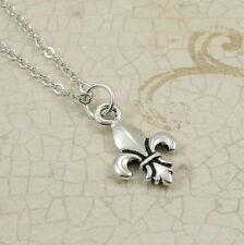 Silver Fleur De Lys Neckalce - Fleur De Lis Jewelry - France Royal Arms Charm