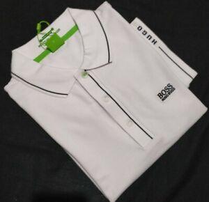 Hugo Boss Men's Regular Fit Polo T-Shirt In White,Sizs S