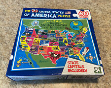 The 50 United States Of America Jigsaw Puzzle 60 Pieces State Capitols Brand New