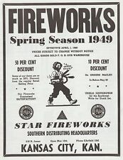 1949 Star Fireworks Firecracker Catalog Reprint Kansas City, Ks