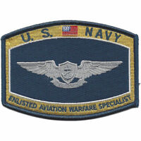 """US Navy Enlisted Aviation Warfare Specialist Patch 4 1/2"""" x 3 1/4"""" Licensed"""