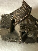 Miniature Well Detaled Small Metal Figure of an Oriental Dwelling