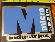Microscale Metal Sign #10031 Microscale (Die Cut, Embossed Metal Sign)