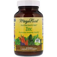 MegaFood Zinc 60 Tablets Dairy-Free, Gluten-Free, Kosher , Non-GMO, NSF