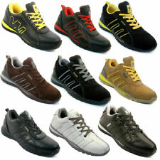 Premiere Mens Genuine Leather Steel Toe Cap Safety Work Trainers Shoes UK6-UK13