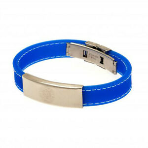 Leicester City F.C - Stitched Silicone Bracelet (BL) - GIFT