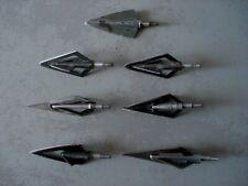 7 Rare ancienne broadheads pour collection ou chasse  -  tir à l'arc