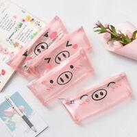 1 PC Cute Transparent PVC Pig Pencil Case Pencil Bag School Office Supplies