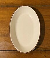 6 Vintage Buffalo China Au Gratin Side Dishes With Maroon Stripe Restaurant Ware