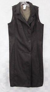 GARNET HILL THICK BLACK DENIM SHIFT DRESS JUMPER Women's Size 12 Made in the USA