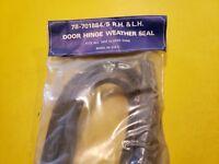 1937 FORD DOOR HINGE WEATHER  SEALS  CLOSED CAR  78-701884/5 FLATHEAD V/8