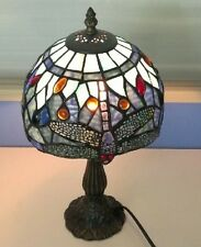 """Tiffany Style Stained Glass Mediterranea dragonfly Table Lamp  16""""/H  7""""/W"""