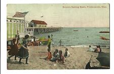 Old Postcard Brown's Bathing Beach Provincetown Massachusetts Pier Old Bathing S