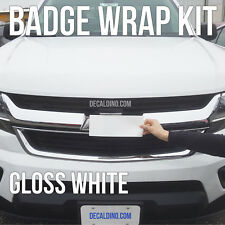 Summit White Truck Emblem Wrap Kit - Fits Chevy Silver BowTie Vinyl Badge Tahoe