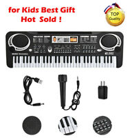 61 Keys Electronic Keyboard Music Electric Digital Piano Organ w/Microphone ❤Ho