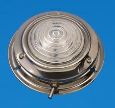 """LED Boat/Caravan Light - 4.5"""" Dome - Stainless - Warm White LEDs - 12V"""