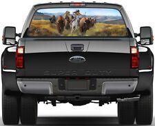 Indian Buffalo Hunting  Rear Window Graphic Decal  Truck SUV