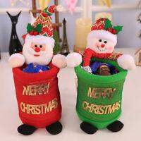EG_ Santa Claus Snowman Stocking Shape Christmas Candy Gift Bag Xmas Tree Orname