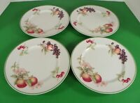 Royal Doulton COUNTRY LANE Smooth Green Trim Salad Plate (s) LOT OF 4