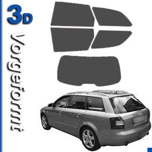 3D Tönungsfolie VORGEWÖLBT Audi A4 B6 Avant Bj 2000 - 2004