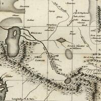 Africa Central interior Mts. of Moon myth Nile source 1804 Tardieu scarce map