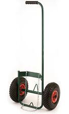 Chariot porte bouteille de gaz avec roue gonflable pour desherbeur thermique