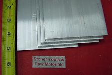 "4 Pieces 3/8"" x 5"" x 5"" ALUMINUM 6061 FLAT BAR T6511 .375"" Plate New Mill Stock"