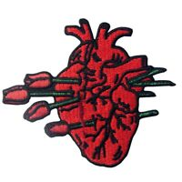 Embroidered Patches Iron Sew On Patches transfers Badges appliques Heart Rose
