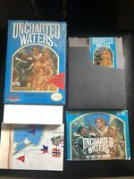 Uncharted Waters (Nintendo, NES) Complete in Box with map - Authentic - Tested