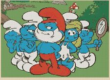 Counted Cross Stitch THE SMURFS FAMILY- COMPLETE KIT #10-58 KIT