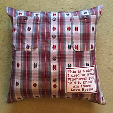 Keepsake Memory Embroidered Cushion Pillow Cover with Personalised Patch