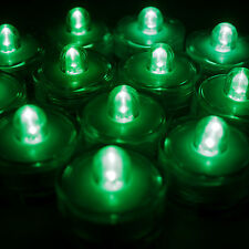 24 Pack Green Submersible Waterproof Underwater Battery Led Tea Light~Wedding