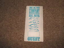 Bad Company 90 Holy Water Tour Backstage Concert  Pass