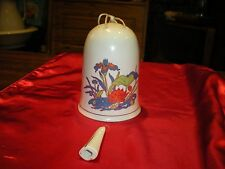 porcelain bell with flower design paul marshall products 1981 taiwan