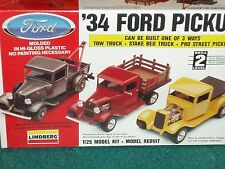 LINDBERG 1934 FORD PICK UP CUSTOM PLASTIC MODEL KIT 1/25 SKILL LEVEL 2